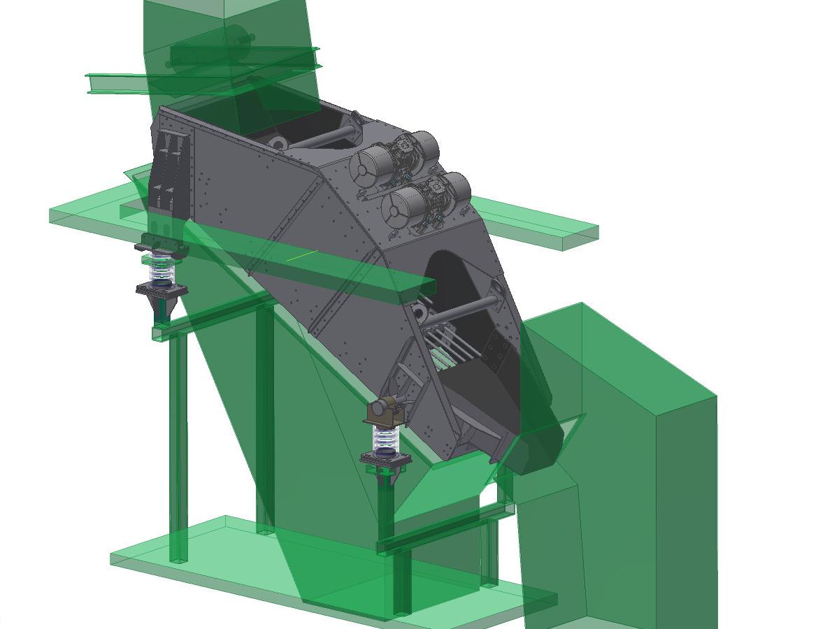 3D view Linear-motion screening machine HR 14-40-I F