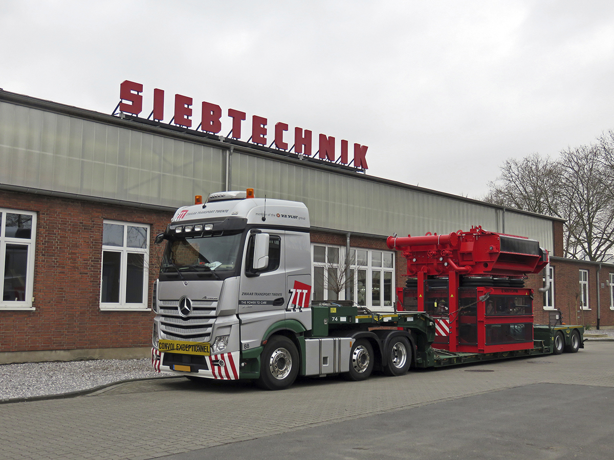 Pulsator jig SK25-25 transport